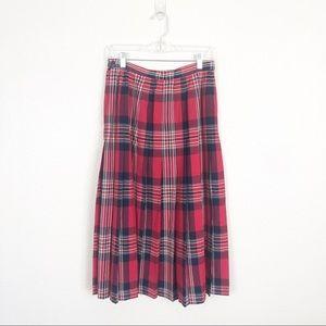 Pendleton Vintage Wool Tartan Plaid Maxi Skirt 12
